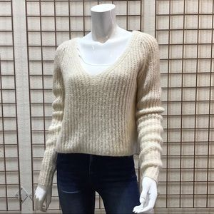 Fuzzy Long Sleeve Pullover Sweater